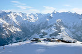 Skiing in the Austrian Alps — Stock Photo