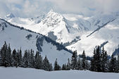 Snow covered mountains in Tirol — Stock Photo