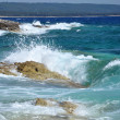 Waves crushing shoreline, beautiful wild seascape — Stock Photo #18520231