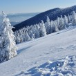 Beautiful panorama of winter mountains - Stock Photo