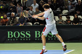 Davis Cup 2013, Romania wins against Denmark, final score 3:0 — Stock Photo