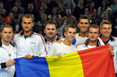 The tennis team of Romania — Stock Photo