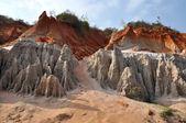 Rock pinnacles at the Fairy stream, Mui Ne, Vietnam — Stock Photo