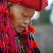 Red Dao ethnic minority womwith turbin Sapa, Vietnam — Stock Photo #23284292
