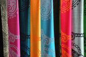 Silk Vietnamese scarf background — Stock Photo