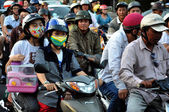 Chaotically traffic in Saigon, Vietnam — Stock Photo