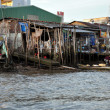 Stock Photo: Shack home in slum areof Mekong delta, Vietnam