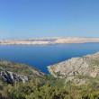 Panorama of a rocky coastline in Croatia — Stock Photo