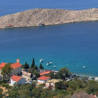 Stock Photo: Panoramof Mediterranevillage houses on beach. Lukovo, Croatia