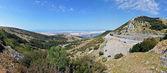 Panorama of a rocky coastline in Croatia — Stock Photo