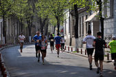 April 21, 2013, Cluj Napoca, Romania, Participants running at the Cluj International Marathon — Stock Photo