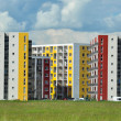 Colorful new flat of blocks  — Stock Photo