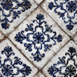 Stock Photo: Antique ceramic stove tiles