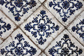 Antique ceramic stove tiles — Stock Photo
