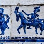 Antique ceramic stove tiles — Stock Photo #26872373