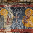 Orthodox painted murals, fresco on a church — Stock Photo