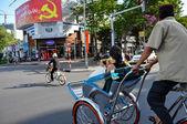 Rickshaws in Saigon, Vietnam — Stock Photo
