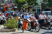 Haotic traffic in Saigon, Vietnam — Stock Photo
