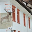 The Stag house in Sighisoara, part Unesco heritage, Romania — Stock Photo