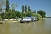 Station de bateau dans le delta du danube, roumanie — Photo