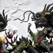 Dragon sculptures at a temple in Vietnam — Stock Photo #28039167