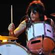 Marky Ramone punk drummer and his band performs ive on the stage during a rock concert — Stock Photo