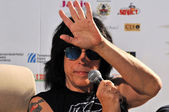 Marky Ramone Grammy Award musician during a press conference — Stock Photo