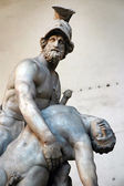 Sculpture of Menelaus supporting the body of Patroclus in the Loggia dei Lanzi, Florence, Italy — Stock Photo