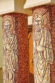 Byzantijnse mozaïek van paul en andrew apostelen — Stockfoto