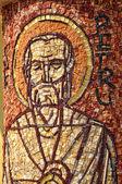 Mosaïque byzantine de Saint-Pierre Apôtre sur une colonne — Photo