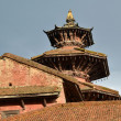 Stock Photo: Pagodtype roof, newari architecture in Durbar square. Patan, Kathmandu, Nepal