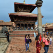 Tourists visiting Durbar square. Patan, Kathmandu, Nepal — Stock Photo