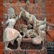 Collection of erotic carvings, explicit Kama Sutra positions on a Nepalese temple in Patan, Kathmandu, Nepal — Stock Photo #33811119