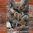 Collection of erotic carvings, explicit Kama Sutra positions on a Nepalese temple in Patan, Kathmandu, Nepal — Stock Photo