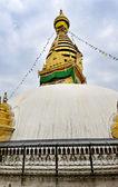 Svatá buddhistická stúpa swayambhunath. káthmándú, nepál — Stock fotografie
