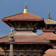 Stock Photo: Pagodtype roof in Durbar square. Patan, Nepal