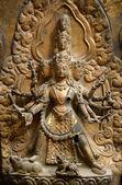 Brazen relief, sculpture of Shiva the destroyer in Patan's Durbar square. Kathmandu, Nepal — Stockfoto