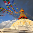 Boudhanath Buddhist stupa in late afternoon lights. Kathmandu, Nepal — Stock Photo