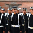 Nepalese Royal Guard Army during a festivity in the Royal Palace. Katmandu, Nepal — Stock Photo