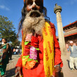Holy Hindu sadhu in Pashupatinath, Nepal — Stock Photo