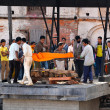 Stock Photo: Humcremation ceremony in holy Hindu place of Pashupatinath, Nepal