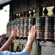 Stock Photo: Prayer wheels