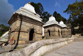 Row of sacred Hindu temples in Pashupatinath, Nepal — Stock Photo