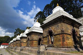 Row of sacred Hindu temples in Pashupatinath, Nepal — Стоковое фото