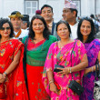 Nepalese Royal family, high society members — Stock Photo