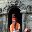 Holy Hindu sadhu man in Pashupatinath, Nepal — Stock Photo