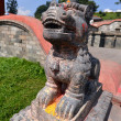 Buddhist lion stone statue in Pashupatinath, Nepal — Stock Photo