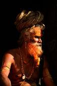 Heliga jakob mannen i pashupatinath, katmandu, nepal — Stockfoto