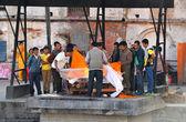 Human body cremation in Pashupatinath, Nepal — Stock Photo