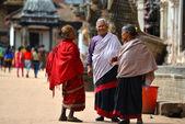 Kvinnor från kathmandu, nepal — Stockfoto